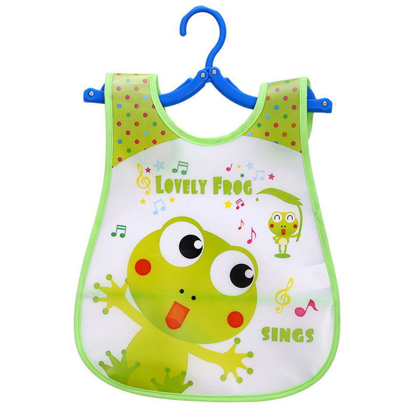 Adjustable Baby Bibs EVA Plastic Waterproof Lunch Feeding Bibs Baby Cartoon Feeding Cloth Children Baby Apron Babador de bebe (39)