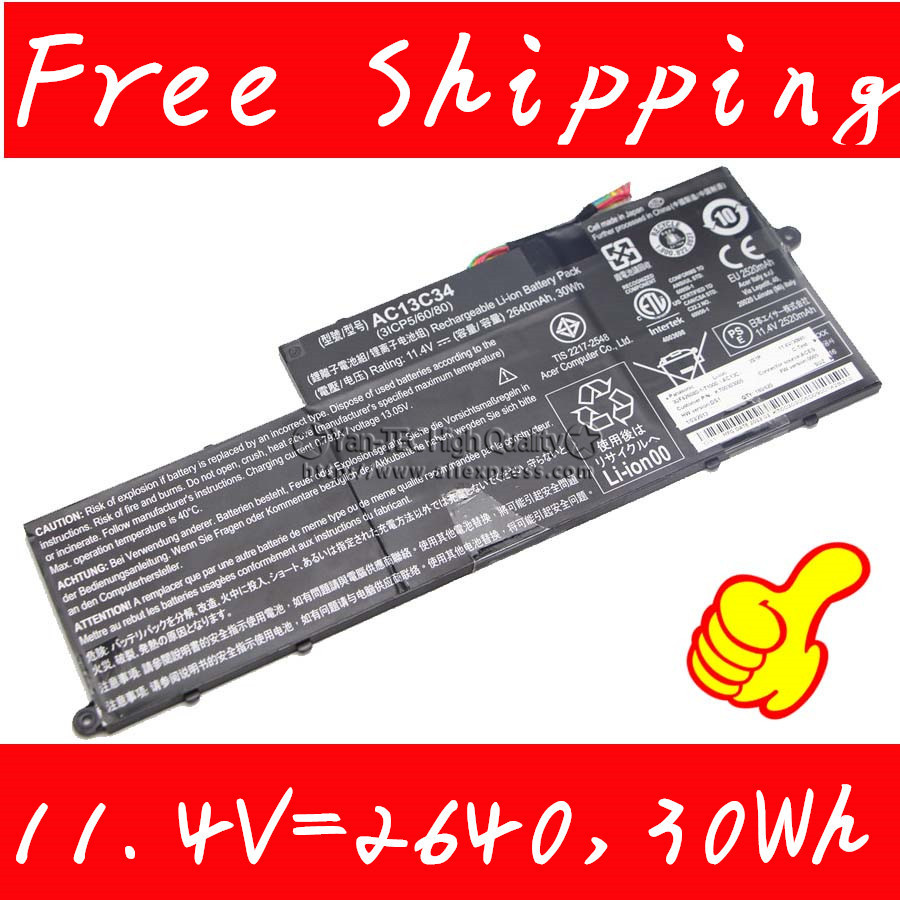 цена на original Battery for Acer Aspire V5-122P Series 3ICP5/60/80 KT.00303.005 in Computers/Tablets Free shipping