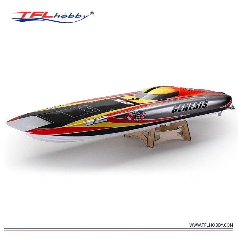 1420mm longueur grand Genesis 1132 Catamaran en fibre de verre bateau de course avec double 5684 1000KV moteurs/double 300A ESCs