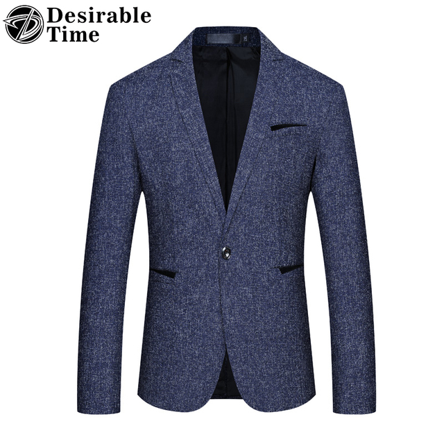 b517f1f9f16 Mens Blue Gray Blazer Jacket 4X 5XL Business Casual Blazers for Men Cheap  Fashion Slim Fit