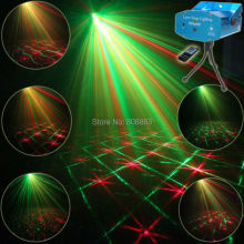 Mini R&G Remote 12 Patterns Laser Projector Club Bar Coffee Shop Dance Disco Home Party Xmas DJ Effect Light Show Tripod R12