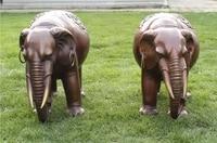 Art Decoration Sculpture Chinese Bronze Copper Auspicious Elephant Statue Pair