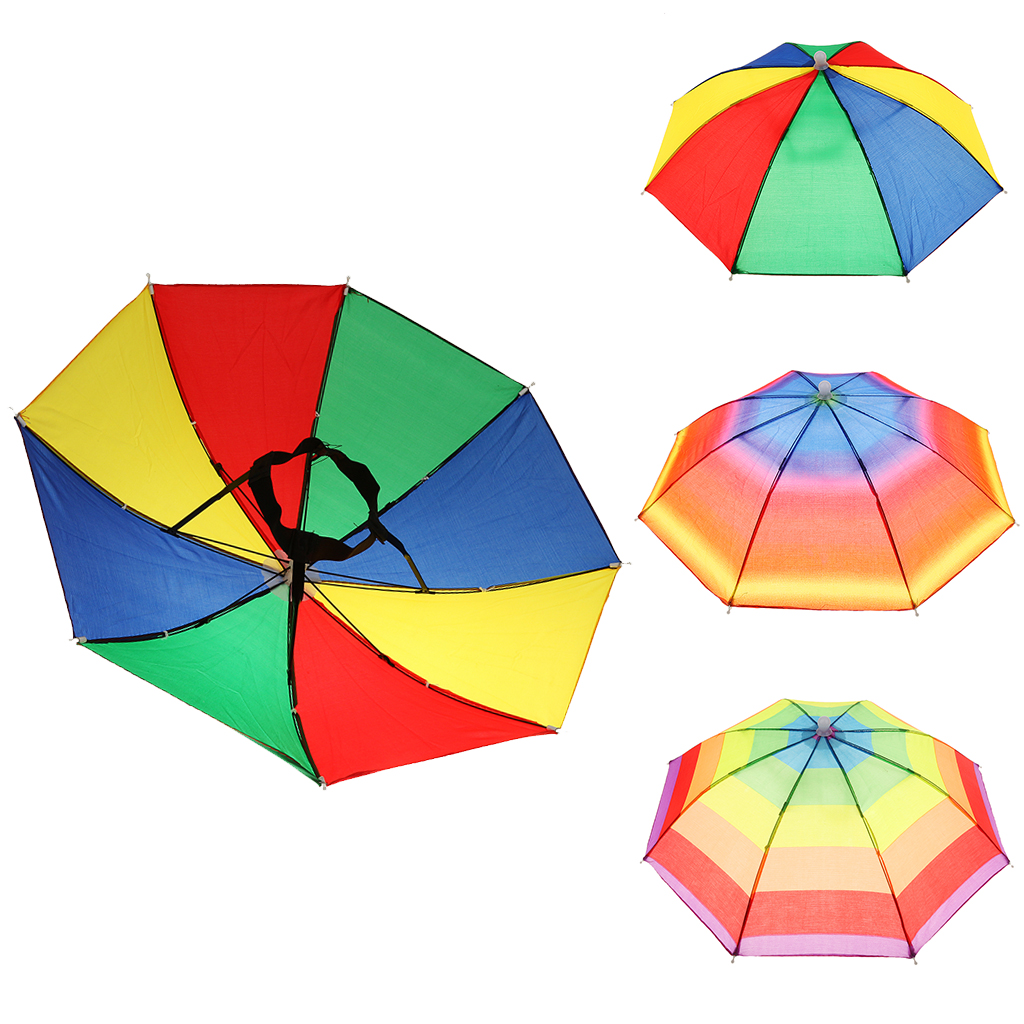 Festival Foldable Novelty Umbrella Hat Head Sun Shade Fishing Outdoor Beach
