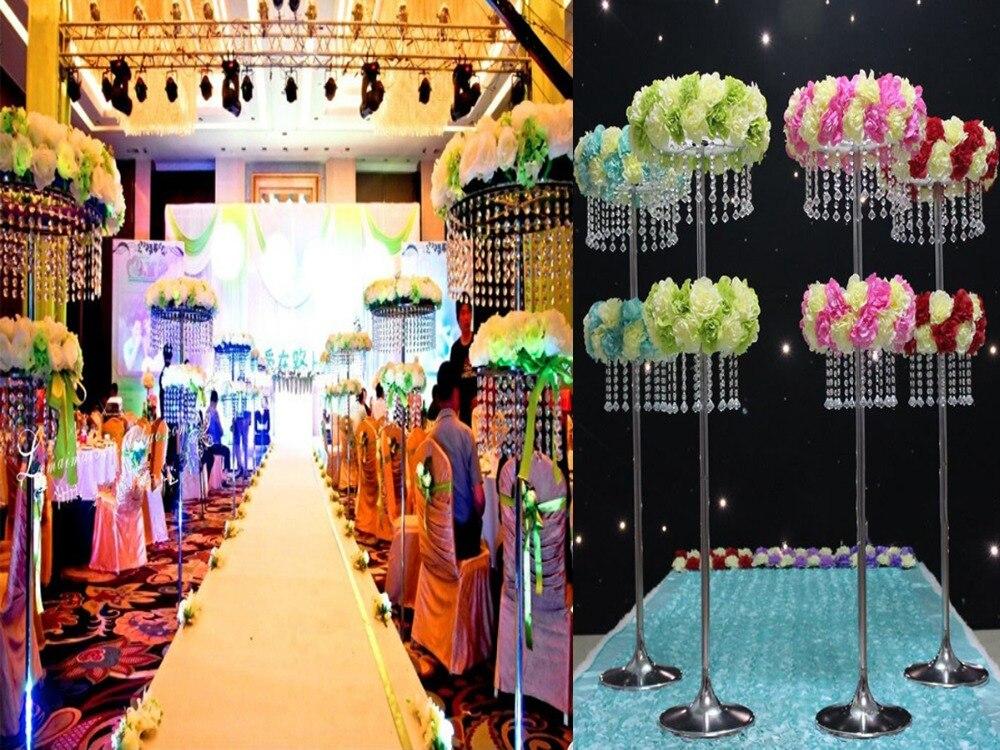 Акрил, стразы, Свадьба дорога приведет ваза с цветами для середины стола в качестве украшения на свадьбу Свадебные украшения/украшение для торжества для стола