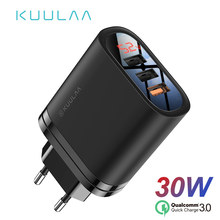 KUULAA Quick Charge 3.0 USB Charger 30W QC3.0 QC Fast Charging Multi Plug Mobile Phone Charger For iPhone Samsung Xiaomi Huawei(China)