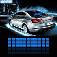 car styling neon light car LED music Rhythm sticker for BMW e46 e90 e39 f30 f10 e36 e60 x5 e53 f20 e34 accessories 90*25cm
