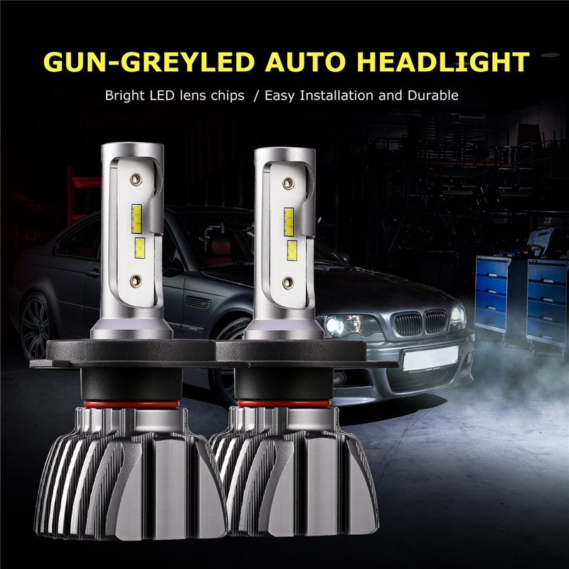 Auxmart Car Light H4 LED Bulb for Nissan altima Pathfinder Maxima 240SX LED Heaslight 50W 8000lm Hi/Lo Beam H 4 LED Lamp 12v 24v