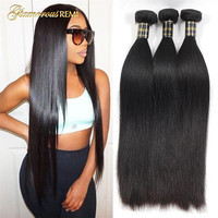 100% Human Remy Hair Weave 1/3/4 Bundles Deals Brazilian Straight Wave Bundles Natural Color 8 26 inches Free Shipping Sale