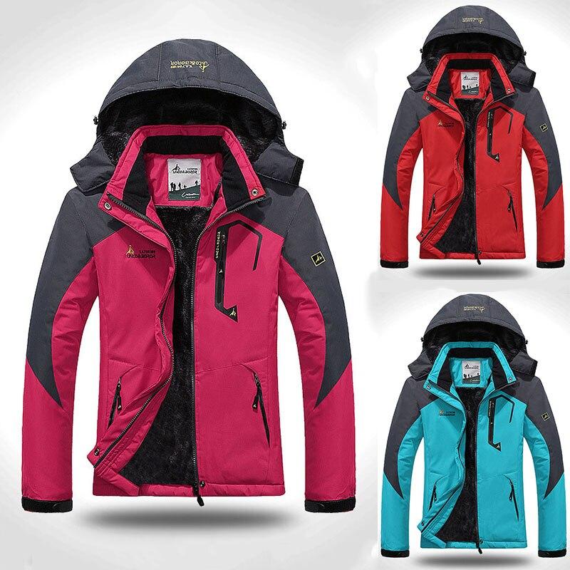Women's Softshell Jacket Ski Suit Hiking Down Coats Waterproof Snow Snowboard Clothes Skiing Fishing Costume Female Sportswear (1) -
