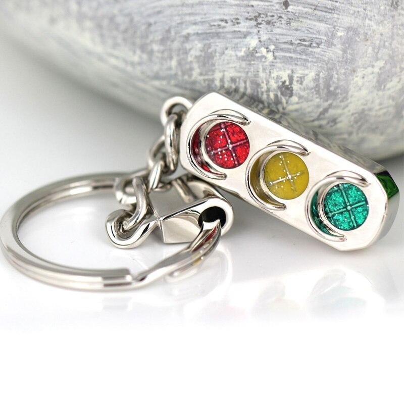 Stylish Traffic Lights Pendant Keychain Key Ring key Chain Car Keyring Bags Decoration 1PC