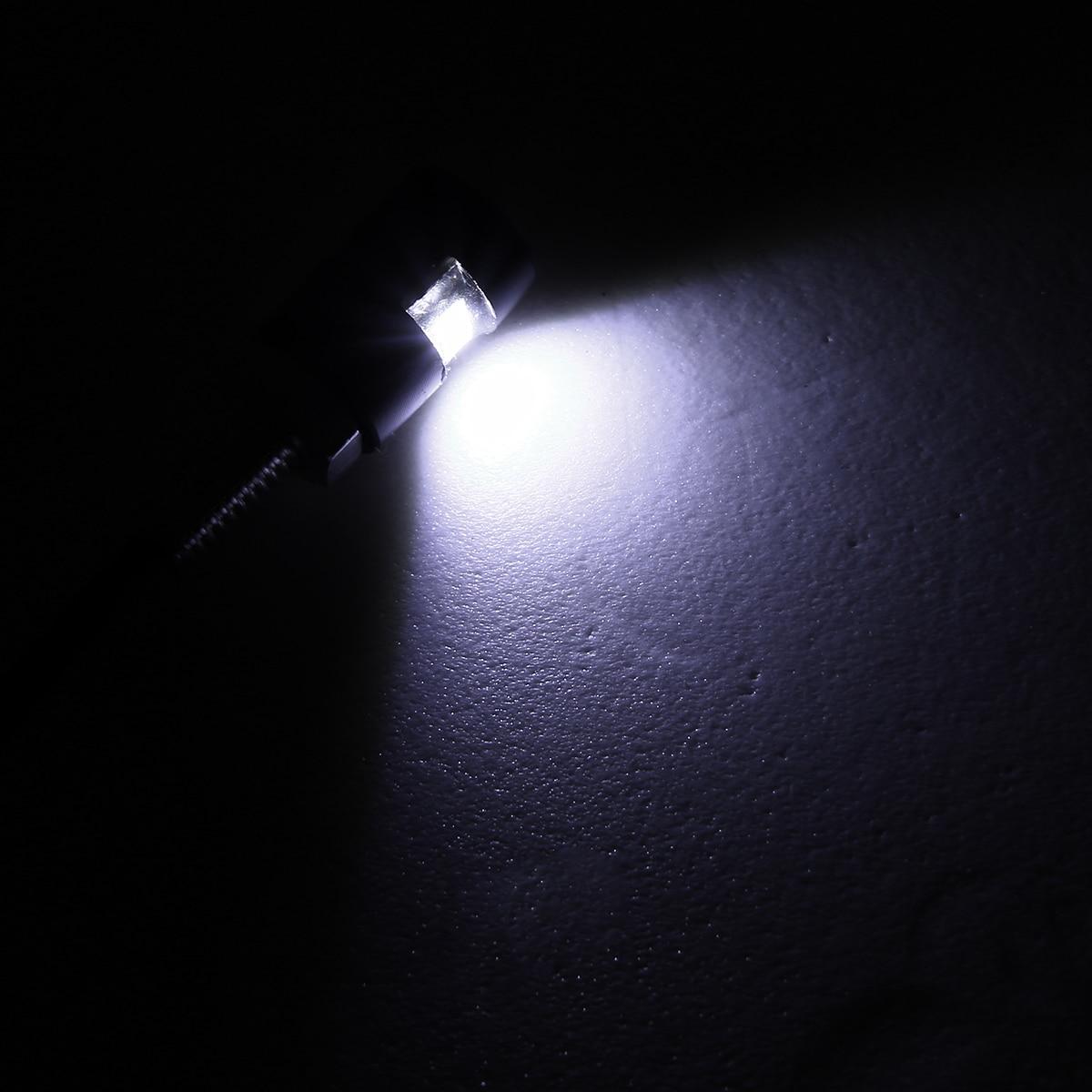 Image 5 - For ATV Quad Off road 1Pair 12V LED Motorcycle Car License Plate Screw Bolt Light Bulb Black Housing White Lamp Mayitr