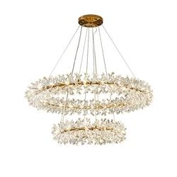 Okrągły wzór nowoczesna kryształowa żyrandol AC110V 220V lustre cristal salon lampka do sypialni