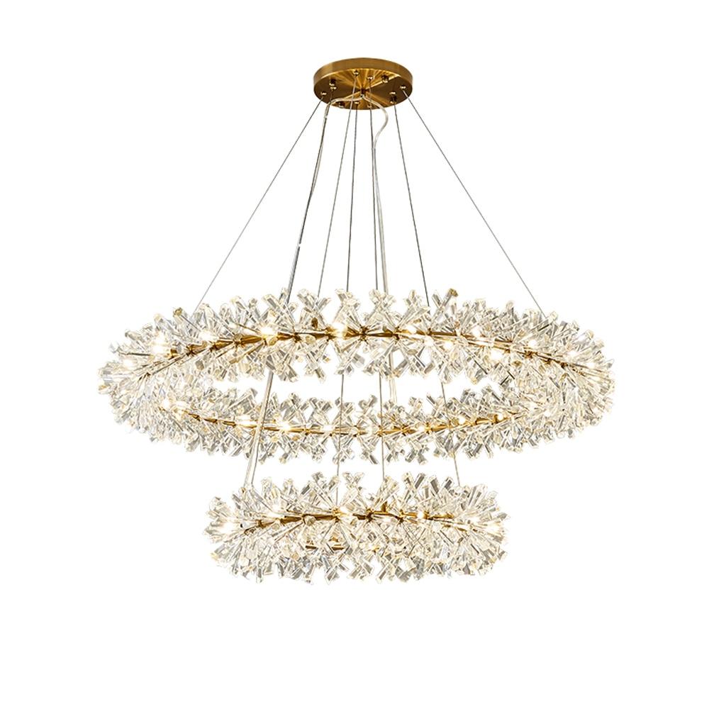 ring design modern crystal chandelier AC110V 220V lustre LED chandelier living lighting and hotel lights
