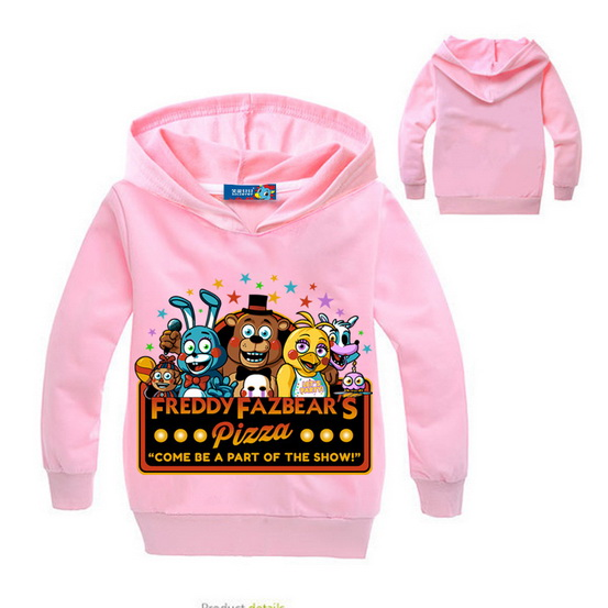 522750d7fc53e Boys clothes cartoon children long sleeves five nights at freddy's clothing  camiseta kids t-shirt 5 freddys tops Hoodie WW1515