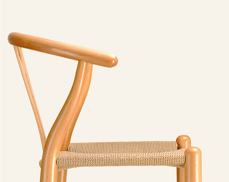 Wooden Wishbone Chair Bar Stool Hans Wegner Y Chair Solid Beech Wood Bar  Furniture Modern Counter Height Stool Natural/Brown In Bar Chairs From  Furniture On ...
