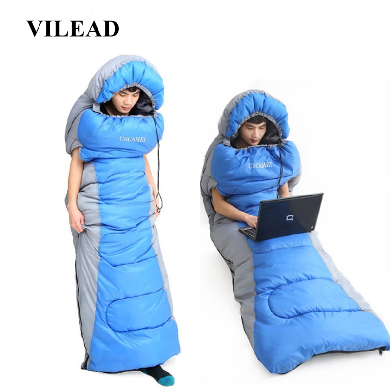 VILEAD Envelope type Hand unbound Sleeping Bag Ultralight Portable Waterproof Hiking Camping Stuff Adult Quilt Bed Lightweight-in Sleeping Bags from Sports & Entertainment
