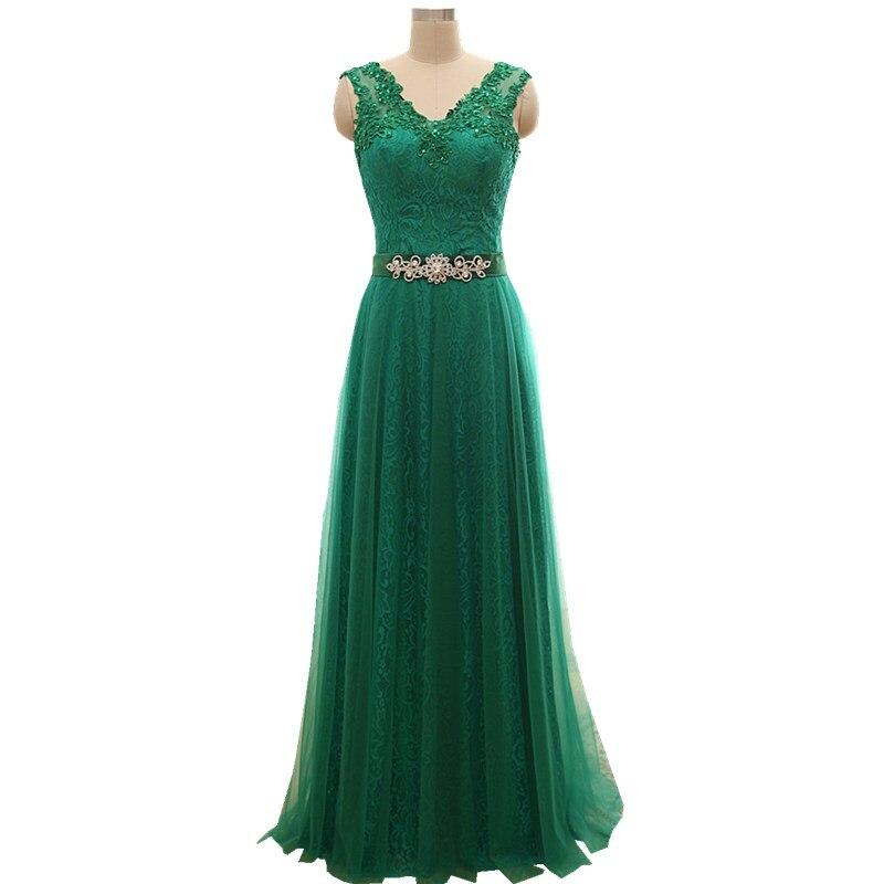 Long Olive Mint Emerald Green A line Formal Elegant Evening Dresses 2017 On  Sale Robe de Soiree Party Vestido de Festa B30-in Prom Dresses from  Weddings   ... 4544e76c77fe