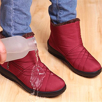 Ankle Boots For Women Winter Boots Female Bottes Femme Zipper Waterproof Snow Anti Slip Plush Ladies Shoes botas mujer