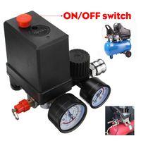 Efficient 240V/380V Regulator Duty Air Compressor Pump Pressure Control Switch Air Pump Control Valve 7.25 125 PSI with Gauge