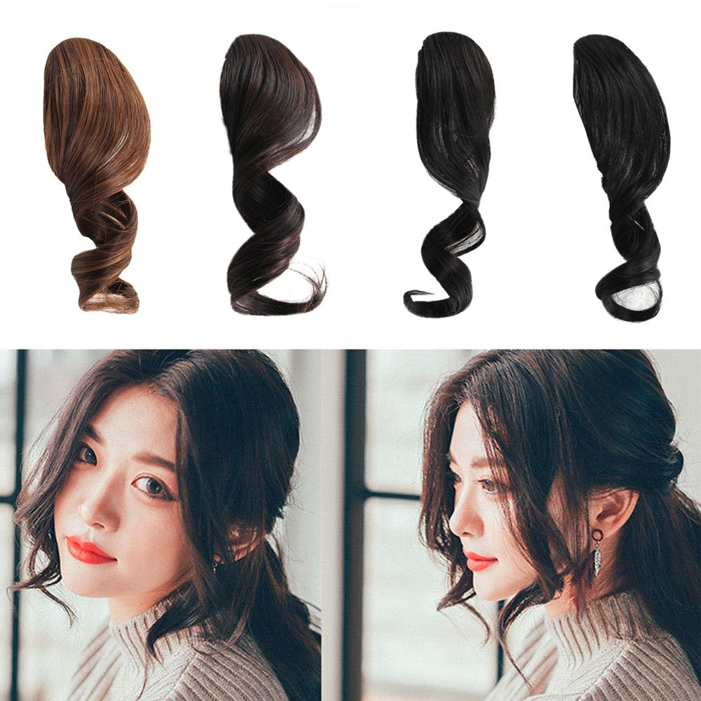 1Pc Pretty Girls Women Fake Front Hair Bangs Hair Styling Accessory Beautiful Fashion Synthetic Curled Hair Extension