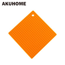 Thicken Increase Square Shape Silicone Mat Food Grade Mat Mat Pot Table Dish Dish Pot Insulation Mat AKUHOME(China)