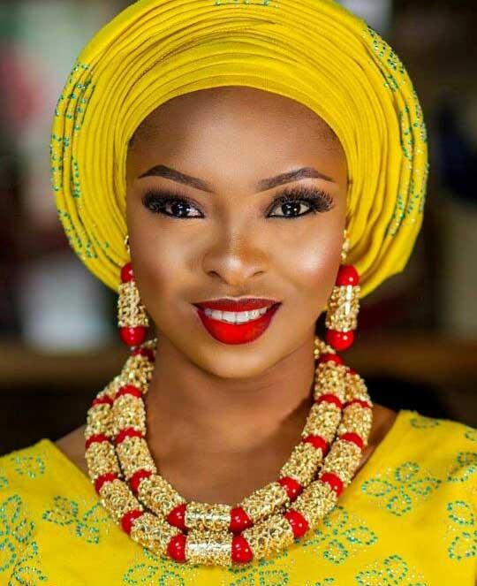 Luxury Dubai Gold Bold Statement Necklace Jewelry Set Red African Beads Wedding Nigerian Costume Jewellery Set Innrech Market.com