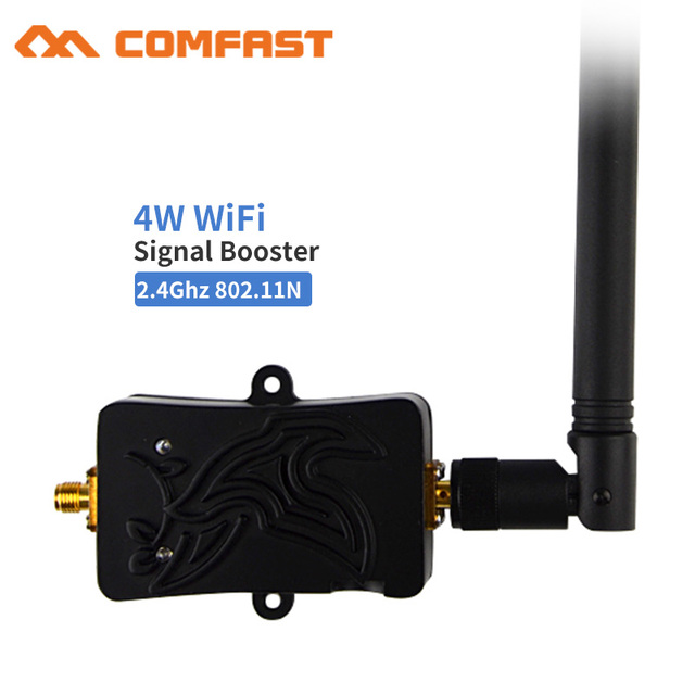 4 w wlan wifi impulsionador de sinal para café escritório em casa negócios 2.4 ghz sem fio wlan roteador 5bi wi fi antena amplificador para roteador