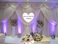 10*20ft (3m*6m width) 4*8m wedding party event decorative backdrop wall hanging stage swag gauze curtain background drapery