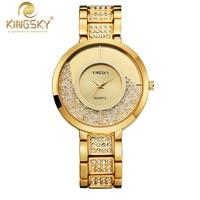 Relogio Feminino Luxury Brand Women Dress Watches Steel Quartz Watch Diamonds Gold Watches For Womans Wrist