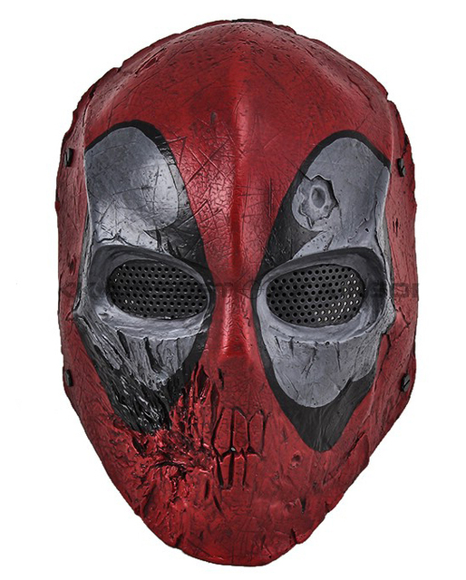 Aliexpress buy paintball airsoft wire mesh dead pool army of paintball airsoft wire mesh dead pool army of two full face mask free shipping voltagebd Image collections
