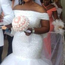 DLOVE BRIDAL Custom Made Off the Shoulder Wedding Dress