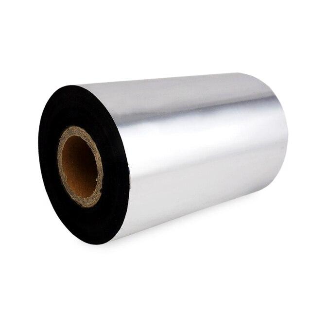 Barkod Şerit Balmumu 110mm x 300 m Balmumu termal aktarma şeridi için uygun etiket yazıcı ZEBRA TSC Vatandaş TEC godex Posteck