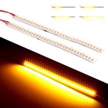 2 piezas 32 LED tira de luz de señal Indicador de luz dinámica de señal de vuelta de las lámparas Flexible ledStrips para Auto para de la motocicleta 12 V