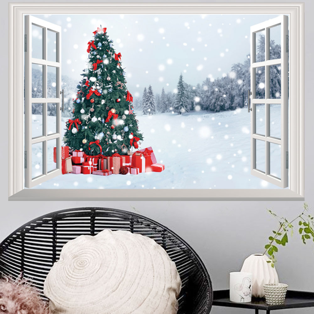 Online Shop 2018 Christmas Tree Wall Sticker For Kids Room 3D ...