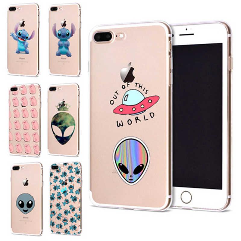 Funda Para Iphone 6 De Apple 6 6s 7 Plus X 10 Alien De Dibujo Cerdo Suave Tpu Funda Para El Iphone 7 Caso Original Coque Para Iphone 8 B344 Fundas Ajustadas Aliexpress