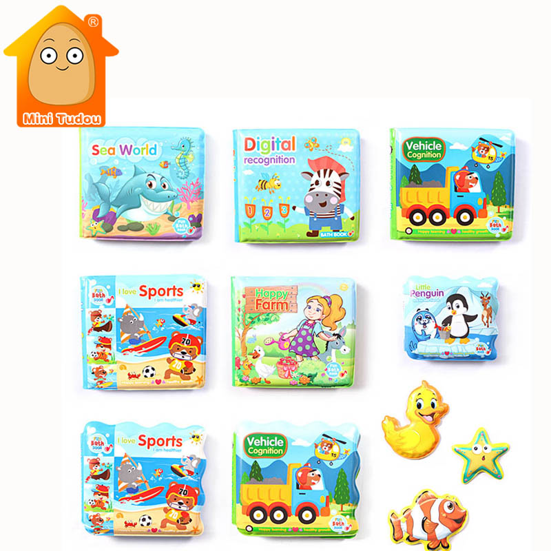 Baby Bath Books Waterproof Bathroom Books Water Bathroom Toys Early Learning Educational Toys Gift Bath Books For Baby Kids