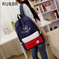 RU&BR New Hot Sale Men & Women Casual Travel EXO Bags Canvas Backpacks Rucksacks Splice Women Student School Bags For Girl Boys