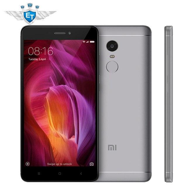 Xiaomi Redmi Note 4 32 ГБ Глобальный Версия смартфона 64-разрядный Восьмиядерный процессор Qualcomm Snapdragon 625 13.0MP Камера отпечатков пальцев Поддержка оты