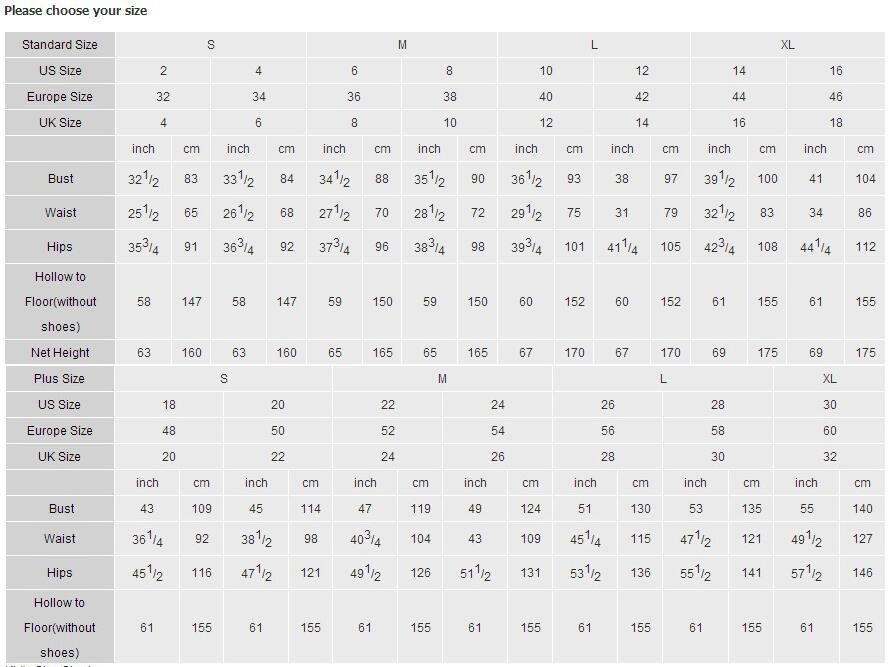 z size chart