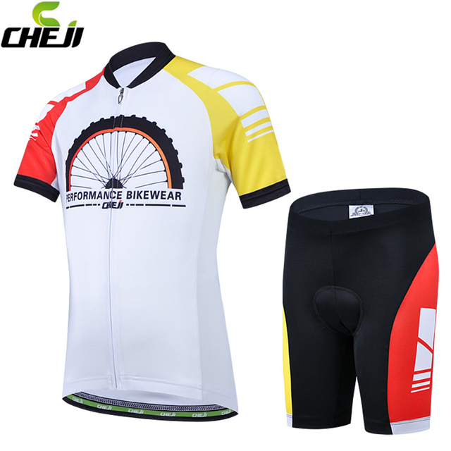 941526519 CHEJI Brand Children Cycling Clothing Gel Padded Bicycle Short Pants  Breathable Road MTB Jerseys Cycling Jersey