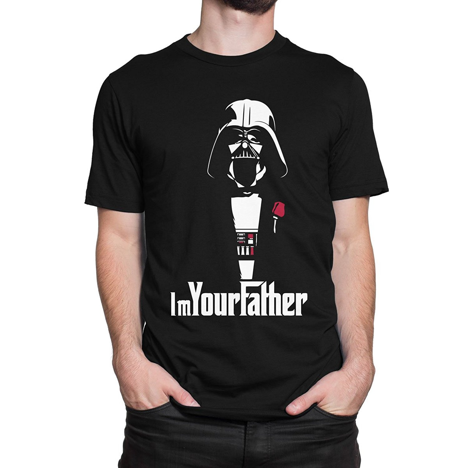Star Wars Im Your Father Darth Vader The Godfather Mens Print Haus T-Shirt Funny Clothing Casual Short Sleeve Tshirts