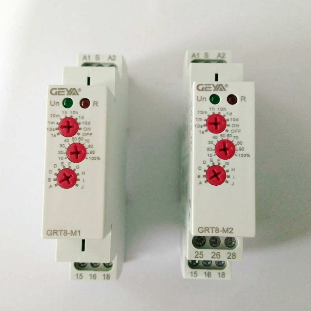 цена на Multifunction Din Rail Automatic Timer Relays AC DC 12V 24V 220V DPDT Control Switch Time Delay Relay