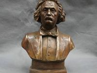 11 China Bronze Copper Great literator Scientist Einstein Head Busts Statue