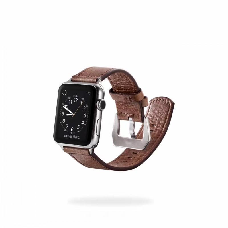 Prix pour Unique tour véritable en cuir triangle boucle bracelet pour apple watch series1 série 2 38/42mm