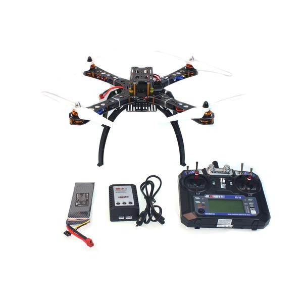 F14893-E 4-Axle Assembled RC Helicopter with APM2.8 Flight Control+FS-i6 6CH Transmitter+GPS+11.1V 3300Mah Battery naza m v2 flight control
