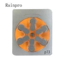 Rainpro 60 pçs/lote P13 PR48 A13 1.45V para Aparelhos Auditivos Baterias Botão Ar Zinco
