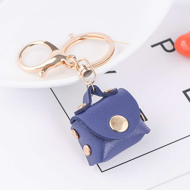 New PU Leather Girl Bag Keychain Trendy Keyring Women Charm Fashion Cute  Handbag Shape Womens Jewellery 255b842976