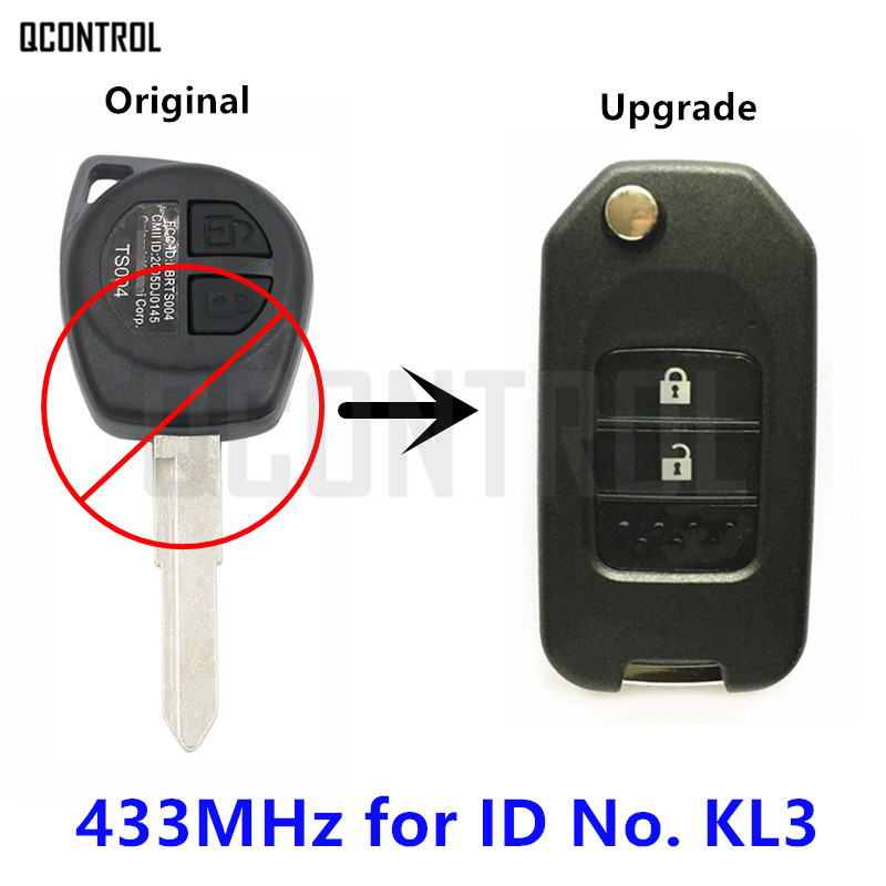 QCONTROL Upgraded Car Remote Flip Key For SUZUKI SWIFT SX4 ALTO IGNIS JIMNY Splash VITARA 433MHz ID46 Chip Controller