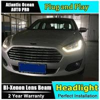 Car Styling LED Head Lamp For Ford Fusion Headlights 2015 ESCORT Led Headlight Drl Turn Signal