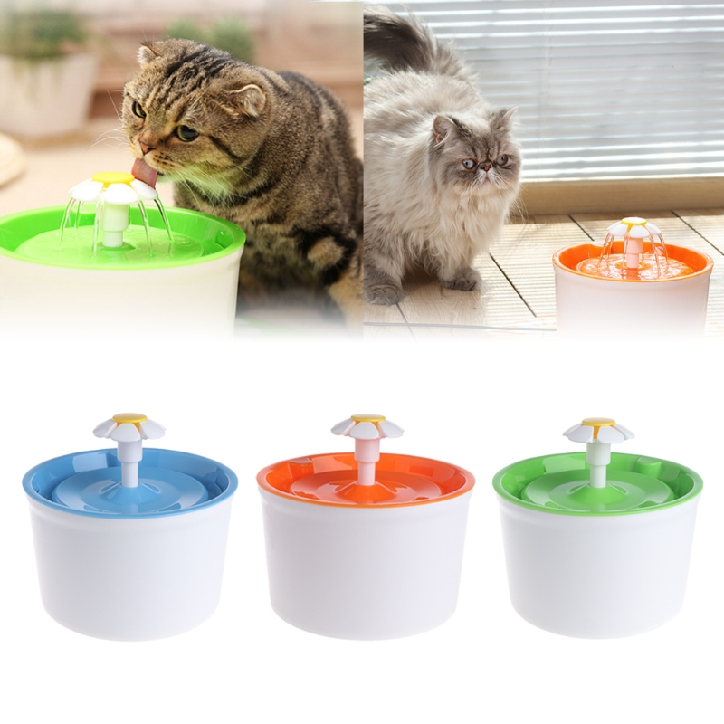 Automatic feeders for cats Pet Water Fountain Automatic Electric Dogs Cat Drinking Bowl Fresh Filter Flower US/EU